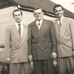 Chuck, his dad John and brother Mickey.