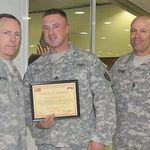 Accepting an award....