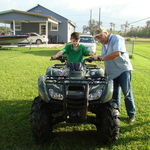 Grumpy and Jayden checking out the 4 wheeler
