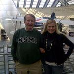 Wayne and Kim at the Marine Corps Museum, Quantico VA 2012