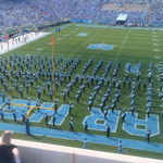 Half time with the Carolina Band at Keenan Stadium, Chapel Hill, 2011