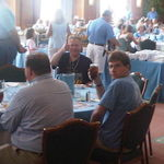 Thomas and Chris get their Carolina game on at the Carolina Club, Chapel Hill NC, 2011