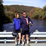 Karen and Jay at the Clover Lick Bridge in West Virginia