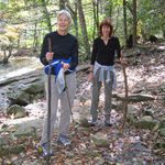 Karen and Diane hiking White Oak Canyon