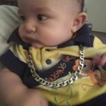 Brayden wearing your necklace.