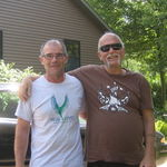 Mike and his lifelong friend Dan , just enjoying a sunny day.