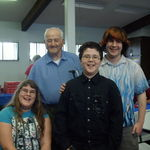 Lawrence Tirrell with grand children, Alyssa, Brandon and Troy II 2009.