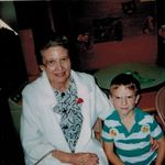 Jean with grandson Rick Wilburn during Grandparents' Day at Valley Mills Elementary 1994.