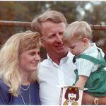 Diggin In...Kim, Wayne and his grandson Thomas Oct 1990
