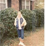 Kim with Wayne's Brevard High School Letter Jacket for NWP 1950's Day in Jacksonville 1982...Wayne was Class of 1957, 4 Letter Sportsman in high school