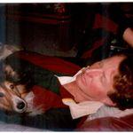 Wayne and Nicholas relaxing at home 1995