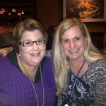 Trish and Kim on Trish's birthday in Charlotte NC, 26 Feb 2012