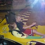 a few years ago, taking his niece around the racetrack