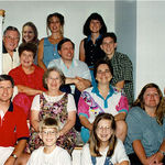 All of the family in Les&#39; home in Lincoln, MA