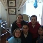 with Zoe, Alexandra, Elizabeth and Elizabeth in Cyprus
