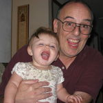 """Uncle Dennis being silly with Great Niece Katie...the youngest of the little """"heathens"""""""