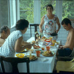 With Hector, Germaine, and Florence, Westboro, MA 1977