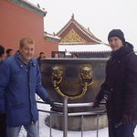 With Gary, Forbidden City, Beijing 2001