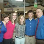 Emily with Kelly, Nicki Green, Jon, and Keith.  At Eastview Christian Church, Bloomington, IL.