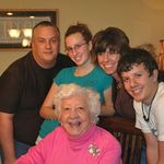 The Keith Herberger family with Grandma Knopp. Taken in 2008.