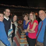 Emily with Jonathan, Andy & Lindsey Knopp, Kelly, Keith, and John Herberger.  At Eastview Christian Church, Feb. 2010.
