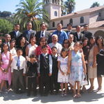 Mommy,Uncle Doro, and Uncle Carlos and family at Edwin & Abigail's Wedding on August 5, 2006