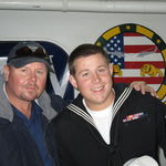 December 20, 2010--Gary with Tripp on the USS Harry S. Truman in Norfolk, VA.