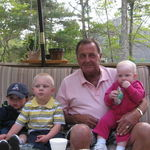 Papa and his three great-grandchildren