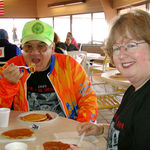 Tom and Kathy at the Lake Erie Metro Park food stop on MGST