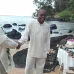 At the Kauai Beach wedding of Thomas &amp; Rubi Meeks.