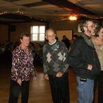 At Uncle Erwin's 90th party with three of his four kids.