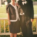 Julie and Daddy at my first wedding. All dressed up!