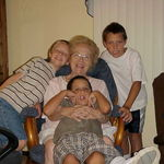 Mom with Grandkids