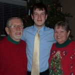 Kevin with Grama and Grampa