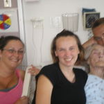 my granny and my girls at hospital