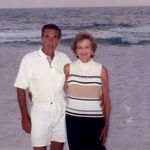 My favorite picture of Mom &amp; Dad at Panama City Beach