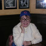 She got her Cubs cap in Chicago-2007