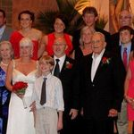 The Brennan family at Anitas wedding, Carrie is in the top left of the photo.
