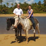 in dominican republic with daughter Olivia