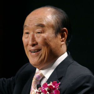 "In this Saturday, June 25, 2005 file photo, Unification Church leader Rev. Sun Myung Moon speaks during his ""Now is God's Time"" rally in New York. Moon, self-proclaimed messiah who founded Unification Church, has died at age 92 church officials said Monday, Sept. 3, 2012."
