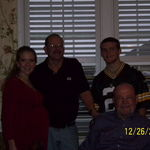 Amber, myself, Griffin and Dad after Christmas dinner 2009.