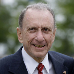 In this May 17, 2010 file photo Sen. Arlen Specter, D-Pa., arrives at Citizens Bank Park, in Philadelphia, as he campaigns across Pennsylvania for the Democratic nomination to run for re-election. Former U.S. Sen. Arlen Specter, longtime Senate moderate and architect of one-bullet theory in JFK death, died Sunday, Oct. 14, 2012. He was 82.