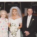 Norm, Kathy & Debbie her wedding 1999