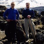 Ross and Jim Zilinski climbing Mt. Kilimanjaro