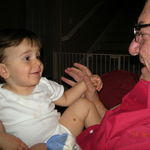 Grandpa enjoyed his Grand kids!