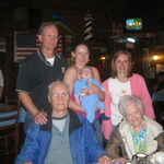 4 Generation picture, Mom & Dad, Joseph, Jessika, and Nathaniel with Aunt Peggi