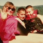 Phyllis and grandsons Tony and Nick