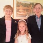 Haley's First Communion with Nana and Papa