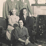 with parents, sister Margaret Ann and Brother Bill in 1945
