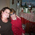 Amanda and Cindy at Christmas time